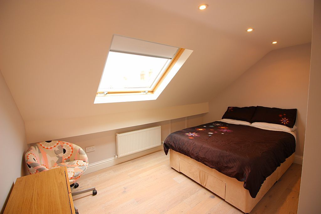 Terraced bedroom
