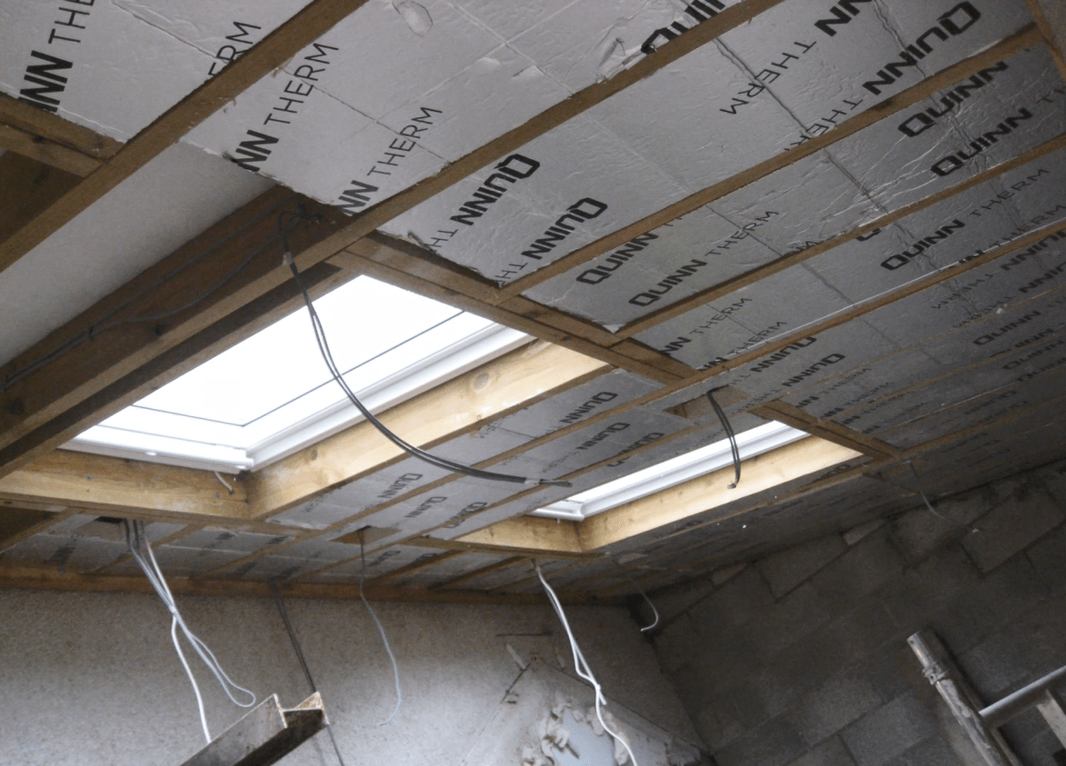 Internal ceiling insulated