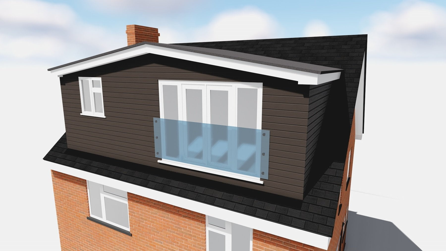 loft conversion dormer with cedral cladding